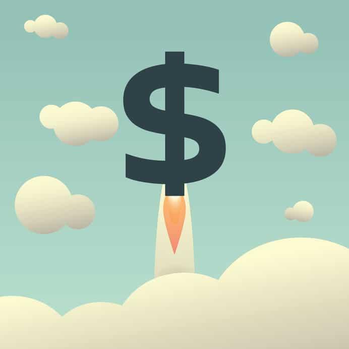 Dollar rising as a rocket